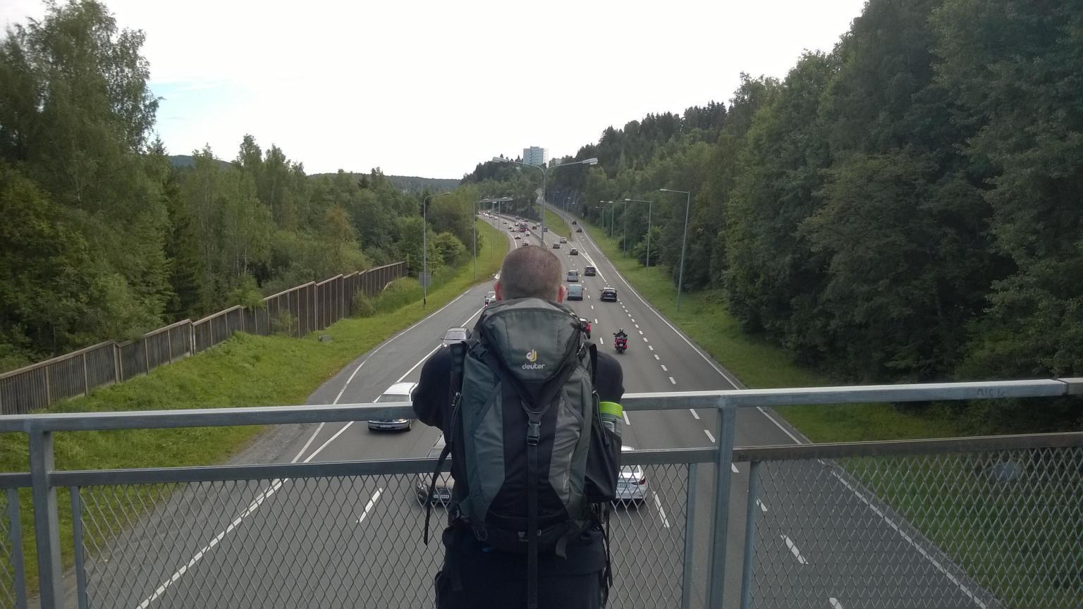 Bruno Pešec on the journey.