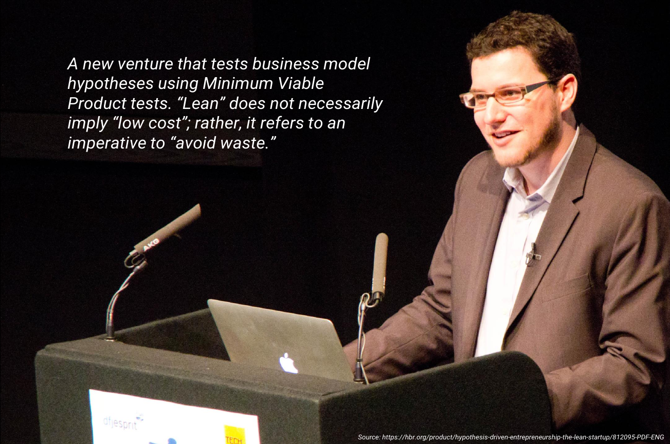 Eric Ries definition of the Lean Startup